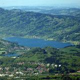 Panoramablick über den Alpsee