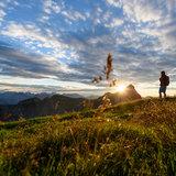 Sonnenuntergang im Rofan, im Hintergrund Hochiss - ©Achensee Tourismus