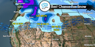 Snow Before You Go: One-Two Powder Punch Set to Strike - ©Meteorologist Chris Tomer