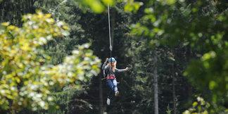 Zipline in Schilttach Hirschgrund