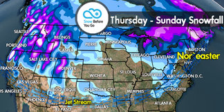 Snow Before You Go: Heavy Snow to Fly West, Northeast - ©Meteorologist Chris Tomer