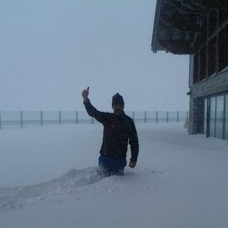 Oct. 2014 : Neige sur les Alpes au dessus de 3000m