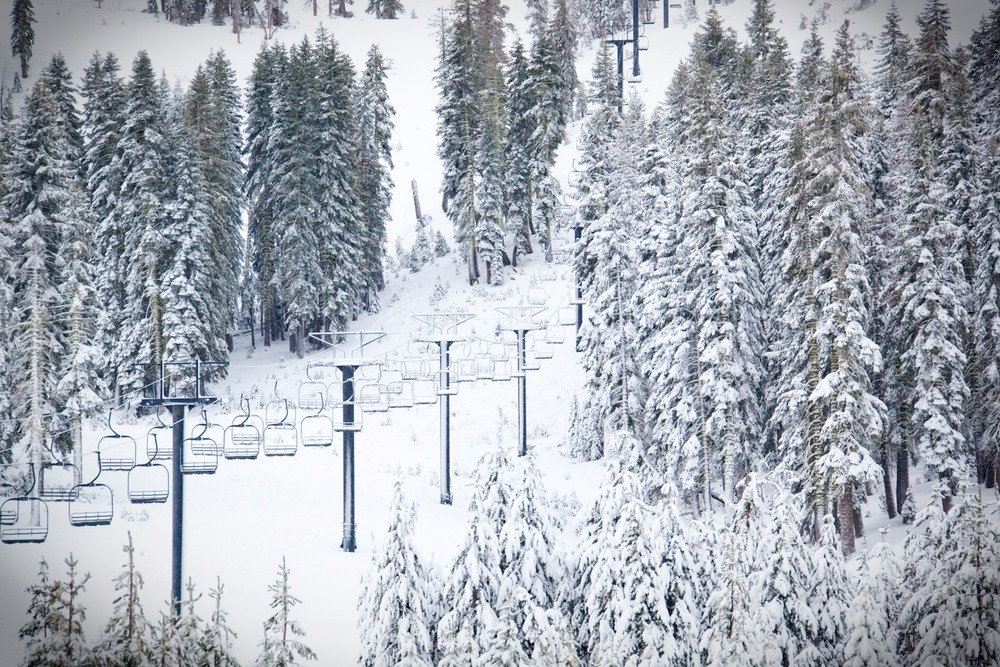 Up until the storm this weekend, a couple resorts in the Tahoe area were closed due to lack of snow. With the amount of fresh snow that fell in the past few days, and more snow on the way, all of the resorts are hoping to open this week. Photo by Sasha Coben