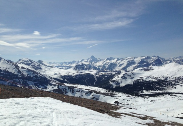 Amazing ski conditions on Saturday.  Really warm day, the snow is disappearing quick.