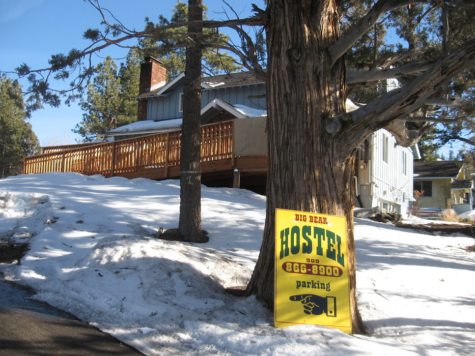 The Big Bear Hostel is located across the street from the lake and next to the village in two converted single family homes.