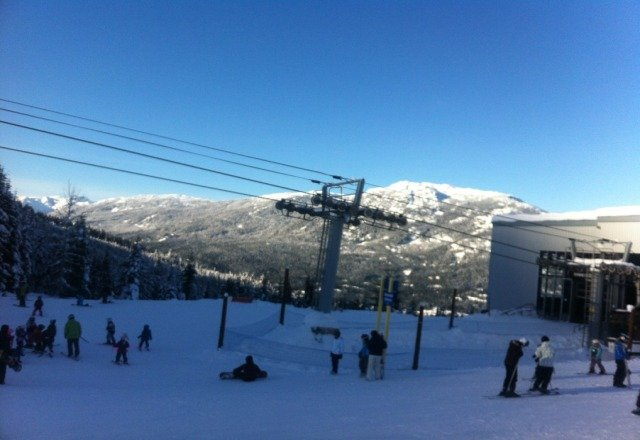 Whistler is second to none. A little cold today. +3F this morning at the base.