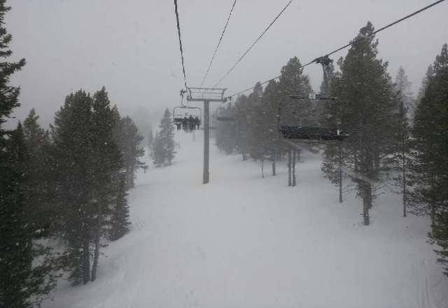 Snowing like crazy. VGood coverage, powder on powder and some light crust.