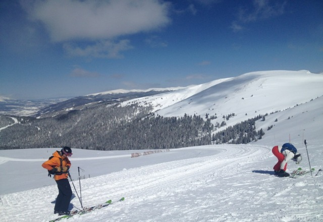 top of north bowl. south was better, everything is fun. great day at stone.