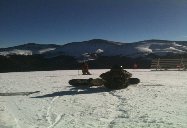 at the top of parsens bowl sick shredding today