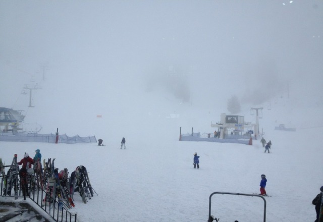 low vis today but fresh snow!