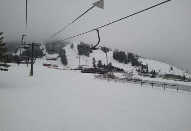 Got a little dusting last night so the hill is fun. Word is we'll get another 3