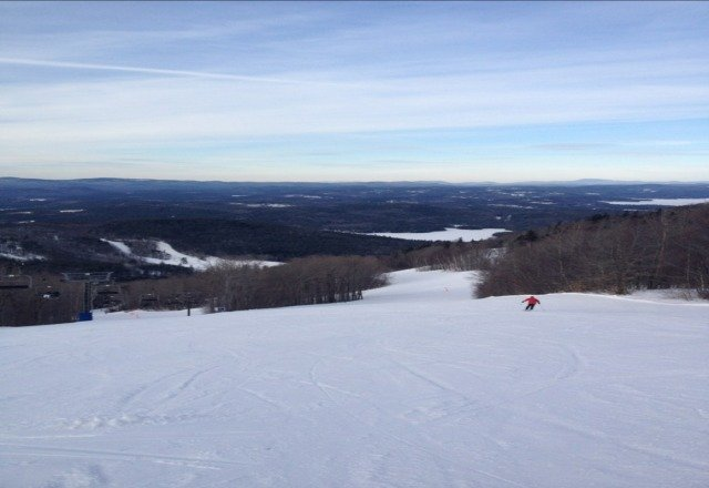 great day! sunny not too cold if bundled up right! hard packed powder and not crowded so courdoroy lasted all day!