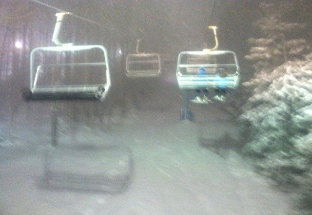 Awesome powder night! Some runs were up to my waist!