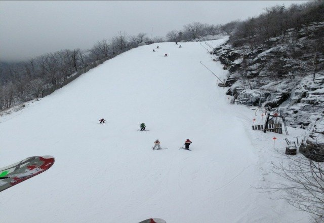 lota snowmade on open trails... conditions were pretty good yesterday