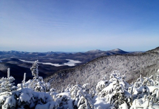Beautiful view today. The trails were full of powder in the morning but they're getting a little icer now.
