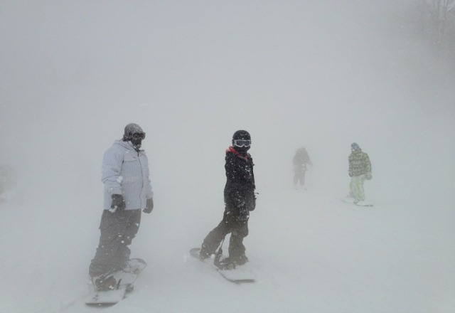tons of fresh falling covering the runs. found tons of untouched pow