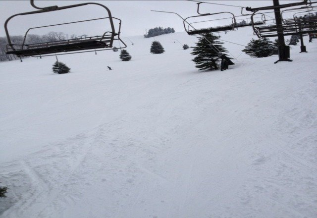good snow. no crowds. come on up!