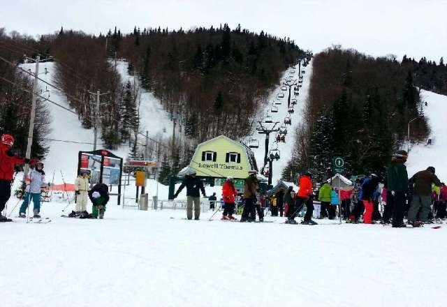 Good skiing in Tremblant. Picture of Lowell Thomas lift.