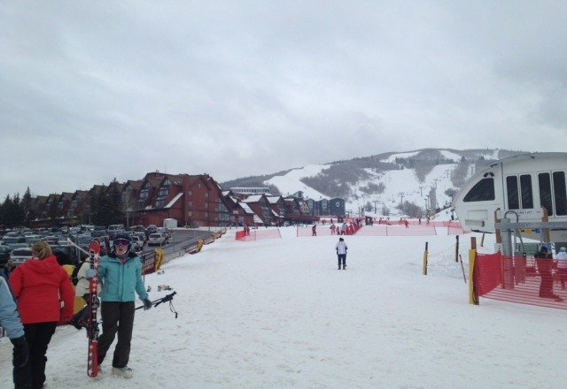 great boarding at Park City today.  3 inches of fresh pow pow.  No long lines, well worth it.