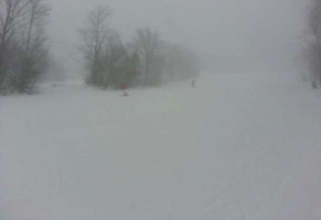 First time here. Many trails closed. But, 2-3 inches in last hour has made trails that are open alot of fun .