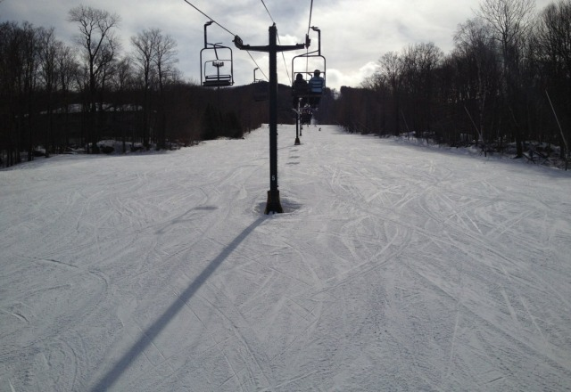perfect day.  no lines.  great snow. top 10 day!