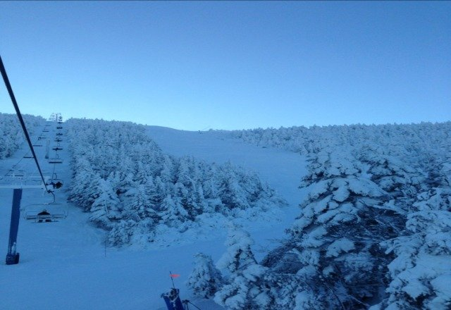 Great conditions over at Mt Ellen, but definitely not 6
