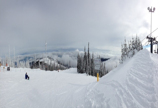 So pretty here.  It got too foggy to see by the end of the day, but overall nice day and well-maintained runs.