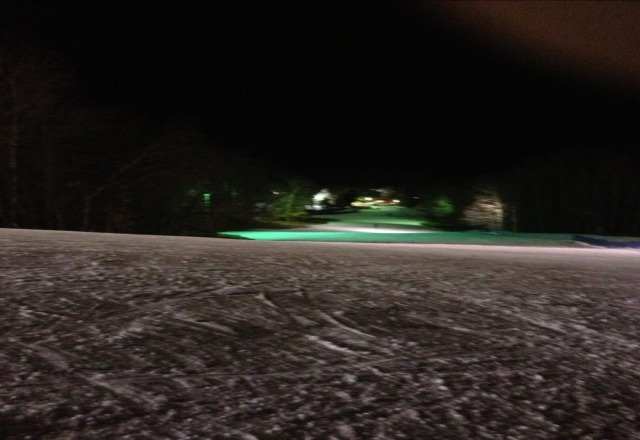 went saturday night 3 runs open not many people there but snow was awsome,  no ice at all!