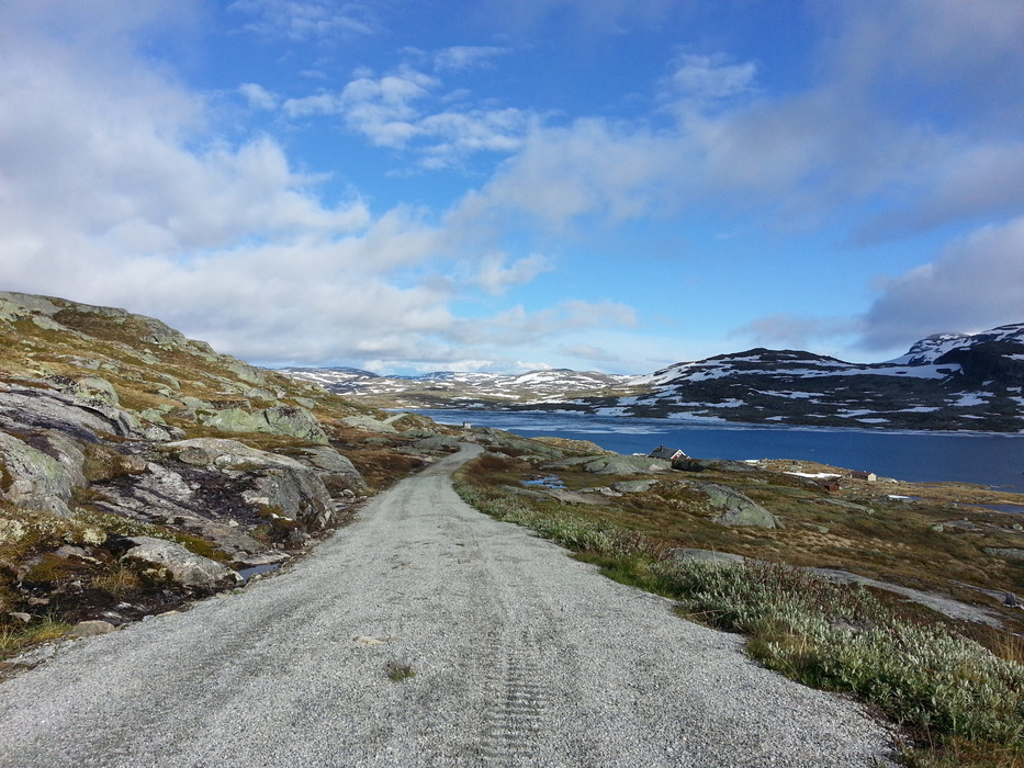 Snow is melting fast at Rallarvegen, Geilo. Picture from 25. june 2013
