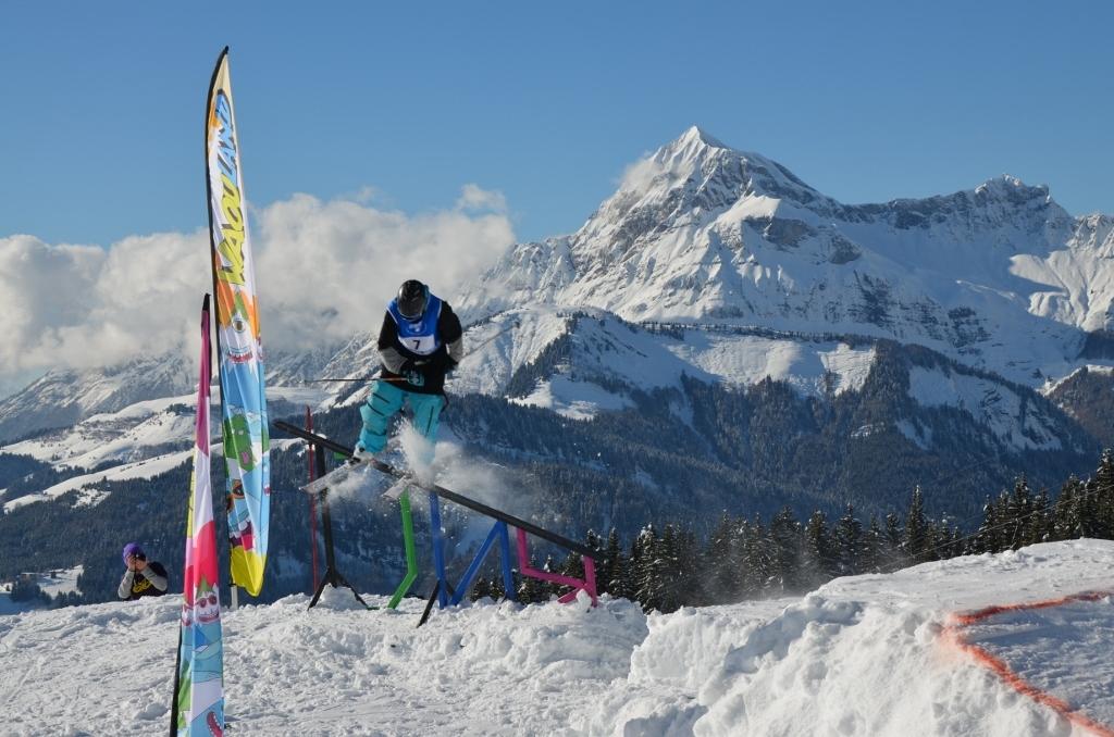 Crest Voland snowpark - ©Office de tourisme du Val d'Arly