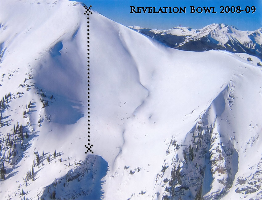 A view of the liftline at the revelation bowl in Telluride, Colorado