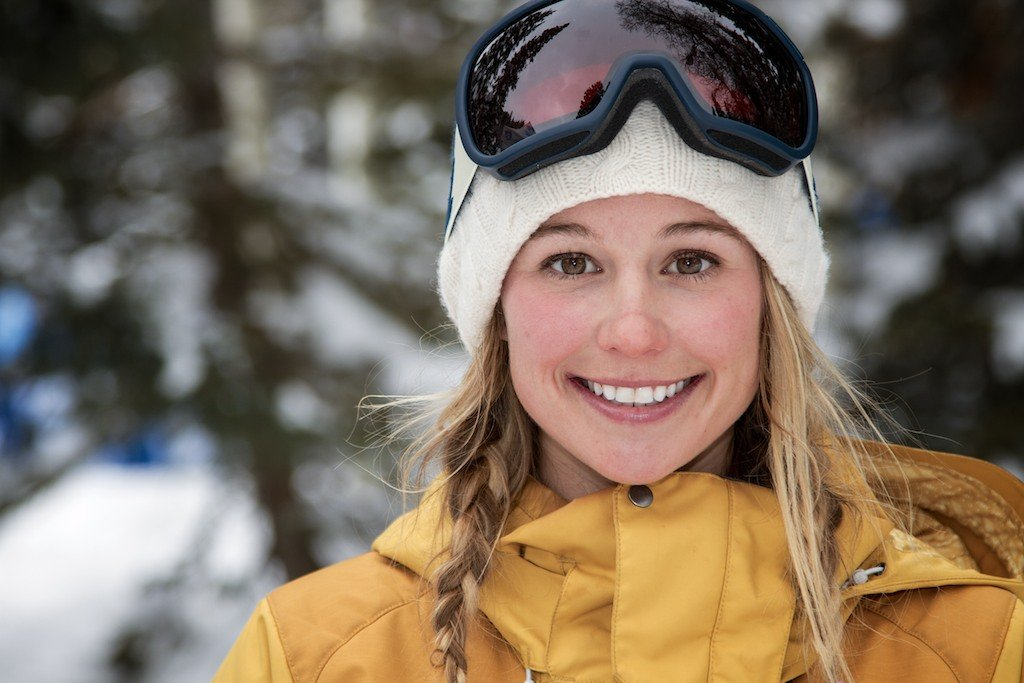 Caroline Gleich: Snowbird/Alta local, Patagonia ambassador, Warren Miller athlete - ©Liam Doran