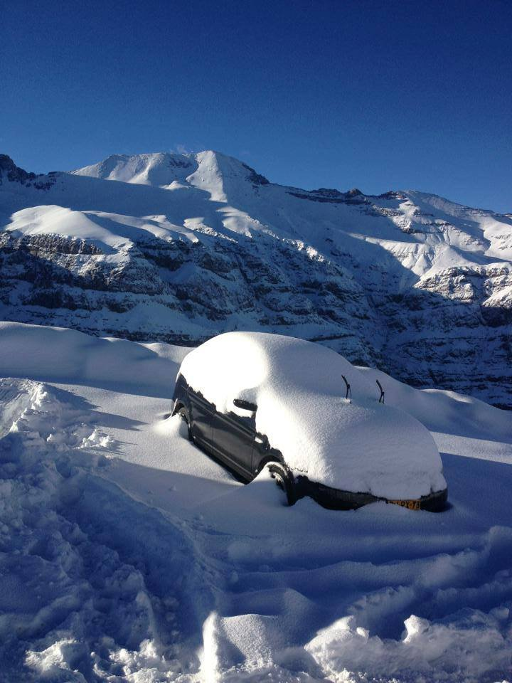 Over a foot of snow fell at Valle Nevado over the weekend