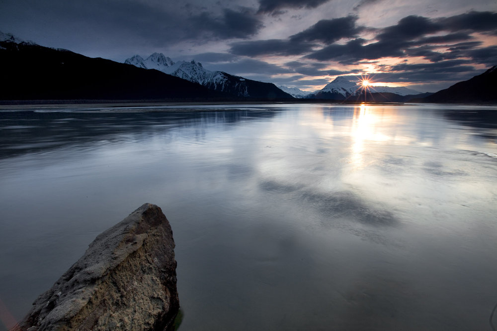 Sunset on the Chilkat River along the Haines Highway. Photo by Will Wissman
