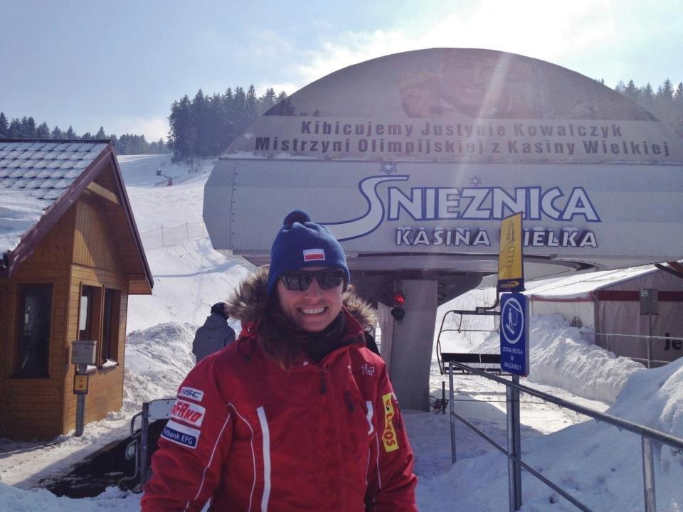 Justyna Kowalczyk in her native ski resort Kasina Wielka - Śnieżnica