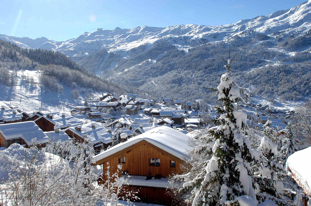 Pretty village of Meribel, 3 Vallees