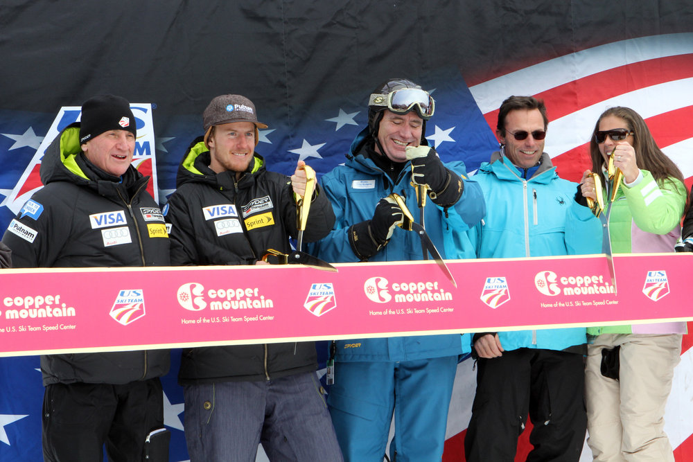 The ribbon is cut to kick off the 2013-14 season at Copper Mountain