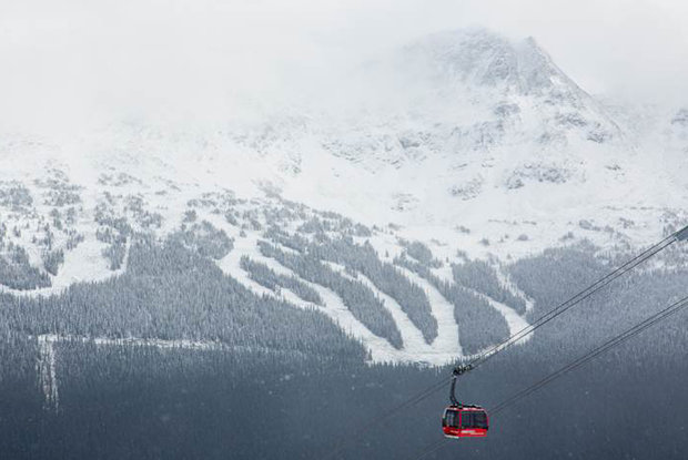 Whistler catching the edge of a huge storm