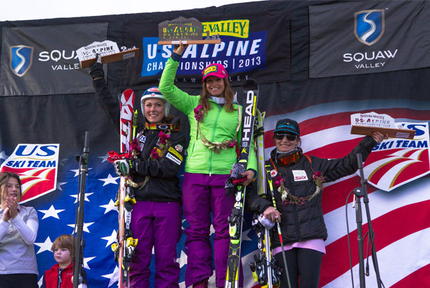 Julia Mancuso 1st place at 2013 Nature Valley U.S. Alpine Championships at Squaw Valley, Calilfornia - ©Mark Epstein/U.S. Ski Team