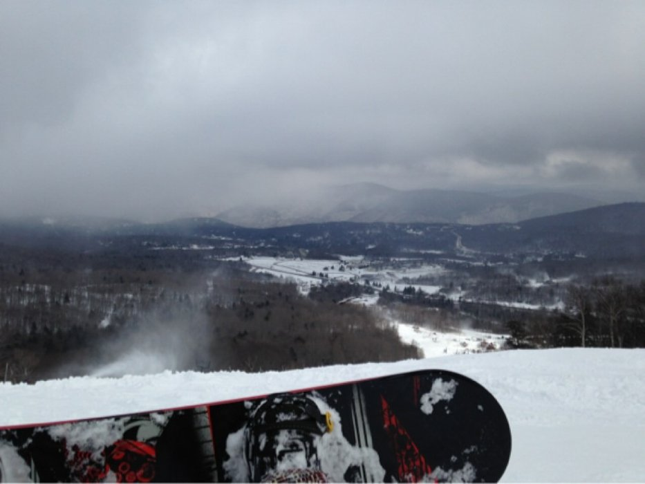 A little icy but not too bad. Not a whole lot open till Friday. Had a great time tho.