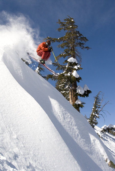 Powder in the Mammoth Mountain backcountry