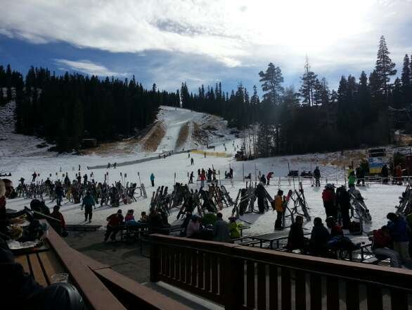 enjoyed today at northstar. snow is pretty good and lines weren't bad.