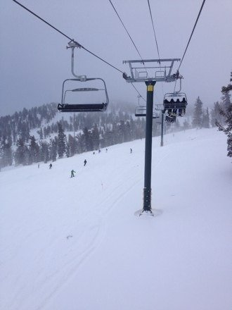 Great pow but crowds crushed the fun.  VRY cold up top, layer up.  Comet chair didn't spin 2day, mech issues
