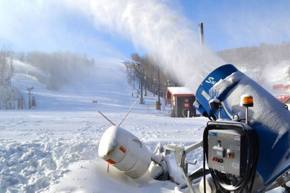 Been blowing snow all night and some today! Looking really good!