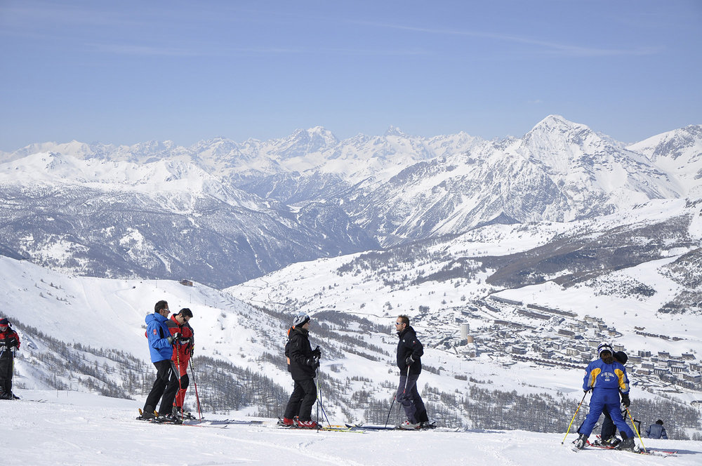 The 400km Milky Way ski area straddles Italy and France - ©Sestriere Vialattea