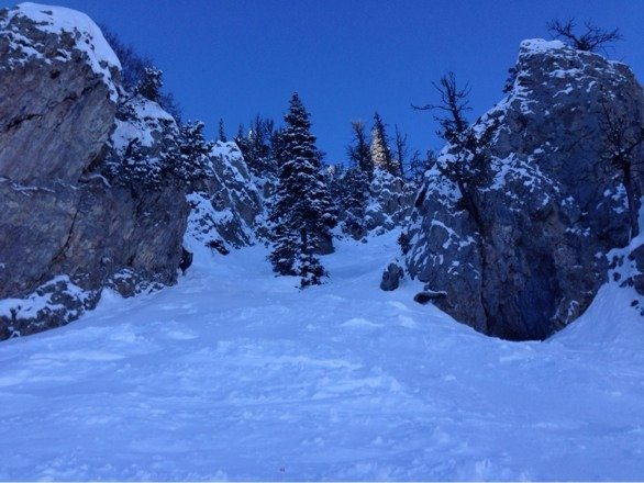 Great bluebird day today! The snow was in excellent shape