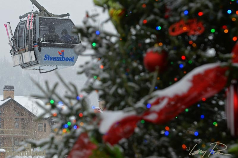 Steamboat decked out for Christmas. - ©Larry Pierce