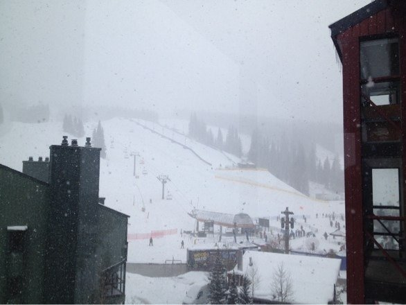It's snowing in copper!!! Awesome!!!