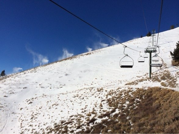 Snow guns are on full blast today. Good conditions on groomers.