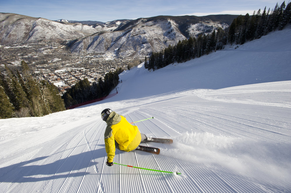 Kiffor Berg skiing at Aspen Resort, Aspen, Colorado.